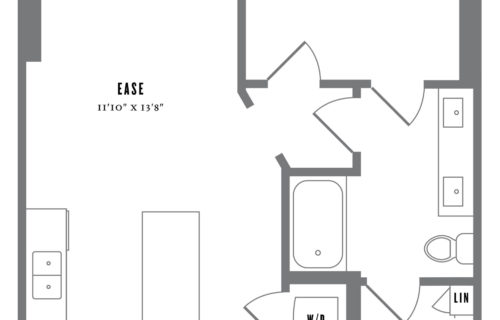 A1 One Bed/One Bath Floor Plan - Stylish One-Bedroom in Austin