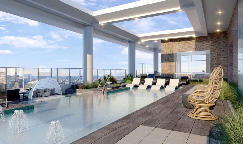 Rooftop Resort-style Pool with tanning ledge - Expect More From Your Long Weekends